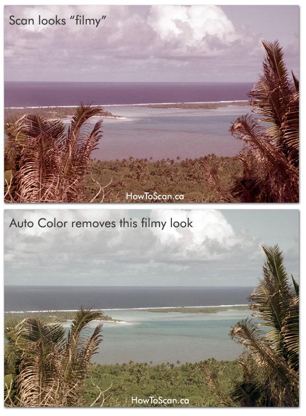 fix negative scan color photoshop
